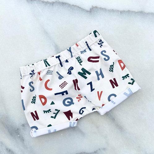 Alphabet Harem Shorts