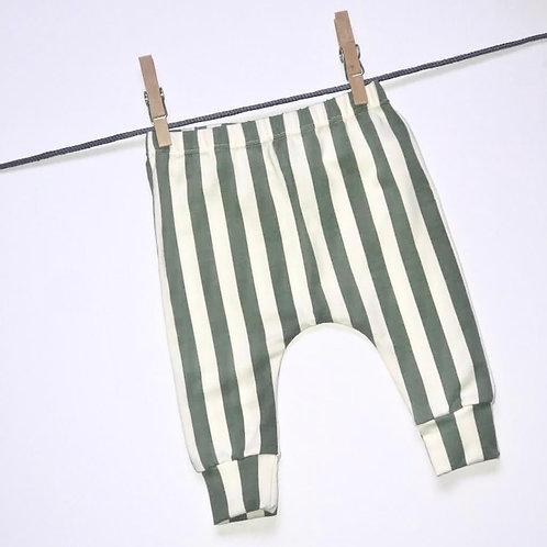 Vertical Stripe Harem Leggings