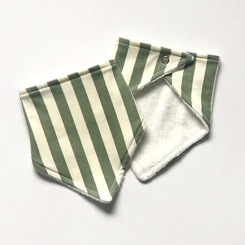 Vertical Stripe Bandana Dribble Bib