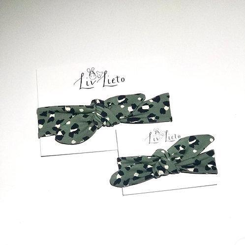 Green Lynx Print Headband