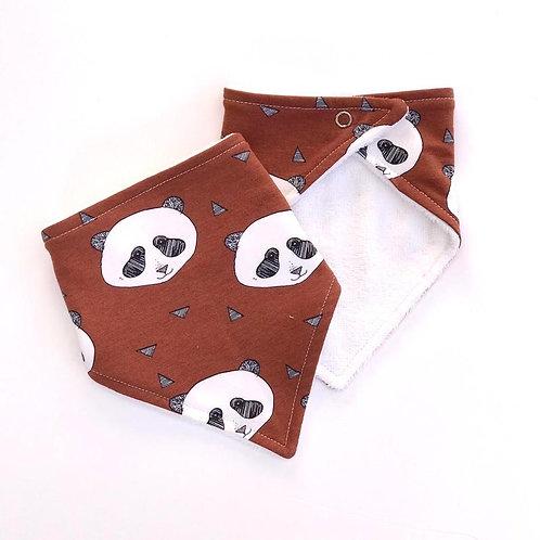 Rusty Panda Bandana Dribble Bib