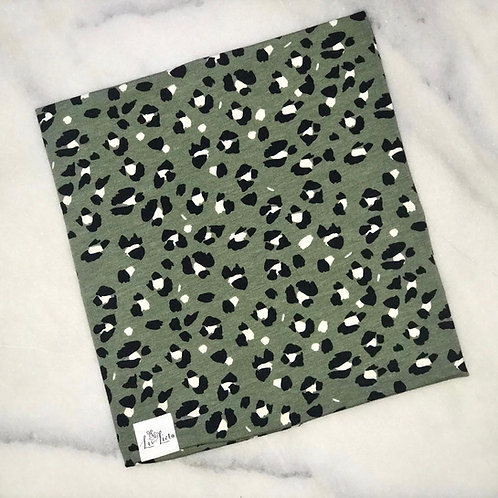 Green Lynx Print Snood