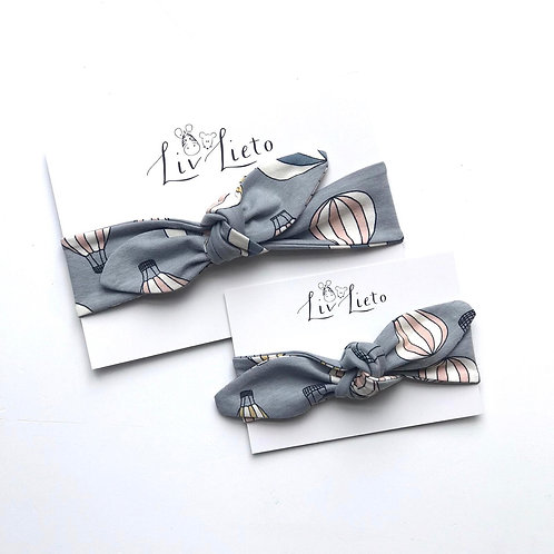 Grey Hot Air Balloon Headband