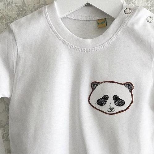 Rusty Panda Short Sleeved T-Shirt