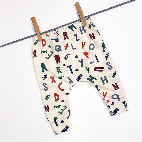 Alphabet Harem Leggings