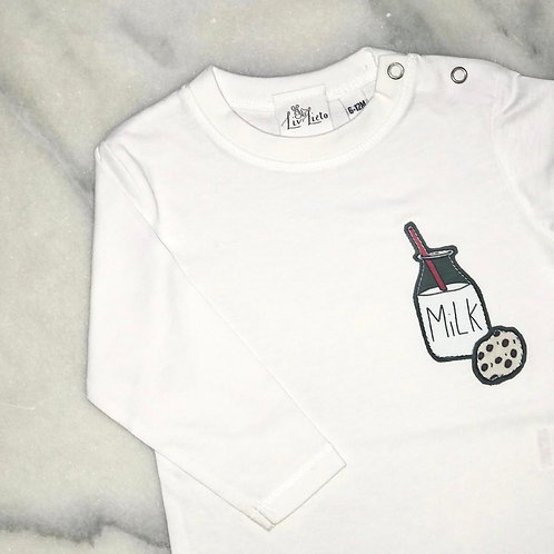 Milk and Cookies Long Sleeved T-Shirt