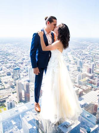 chicago skyline wedding