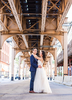 wedding under bridge