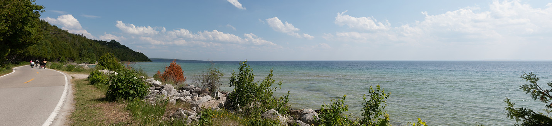 mackinac beach landscape