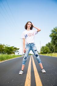 teen model street photo