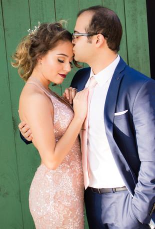 kissing forehead engagement
