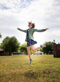 teen model jumping