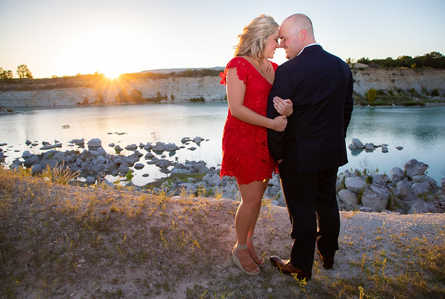 sunset engagement photo