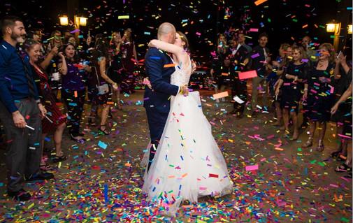 flutter fetti wedding exit