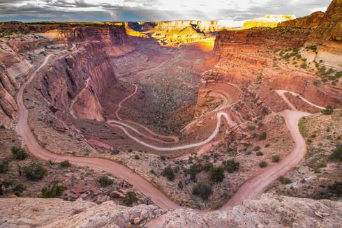 shafer trail sunset