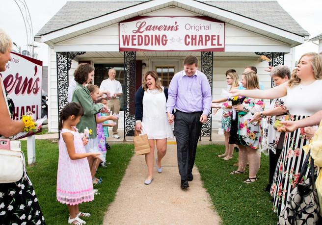 wedding chapel exit