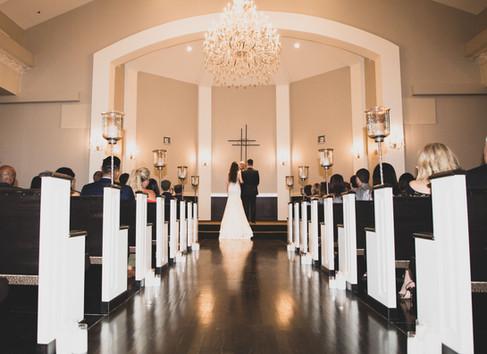 wide angle church wedding