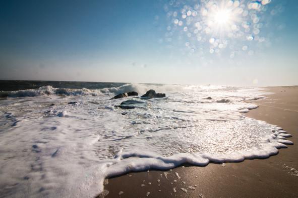 foamy beach