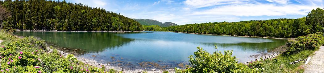 acadia lake landscape