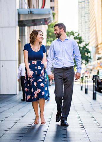 couple walking dallas