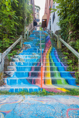 painted stairs art