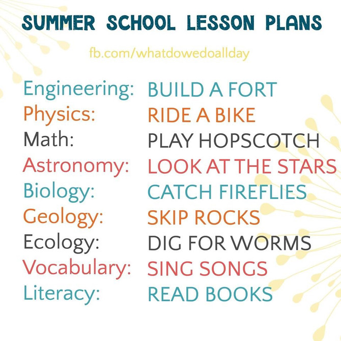 GFCC FUN Summer School Recommendations