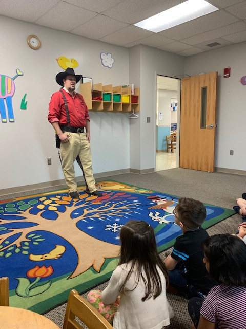 Cowboy Steve Visited GFCC on Monday!    Howdy Partner!
