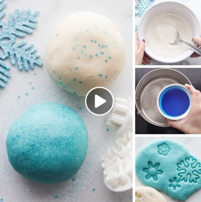 🍎 Let It Snow -- Frozen Play Dough