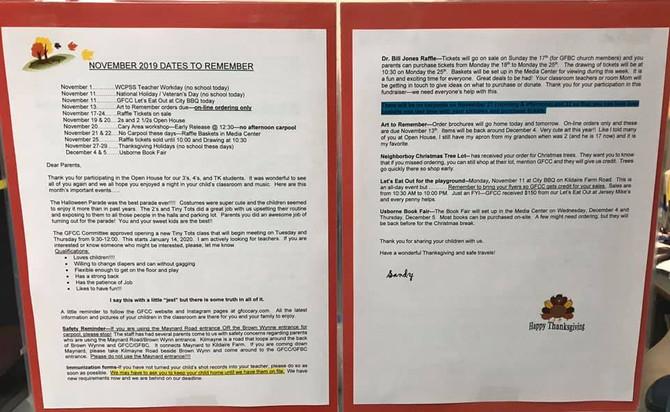 November 2019 Parent Letter