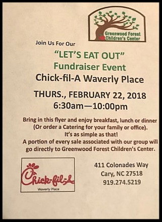 Let's Eat Out at Chick-fil-A Waverly Place