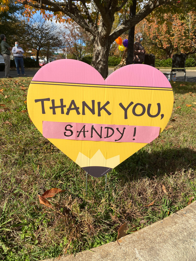 🍎 November 8, 2020 was a Beautiful Day To Celebrate Our Retiring Director, Sandy Duncan!