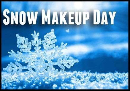 Our Next Snow Makeup Day is February 19.