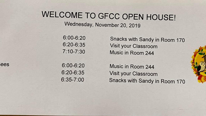 🍎Wednesday Night - 🎫 Raffle Basket Tickets on Sale for the GFCC Family and Open House for the 🍎Ap