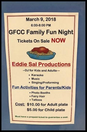 GFCC Family Fun Night - Friday, March 9, 2018