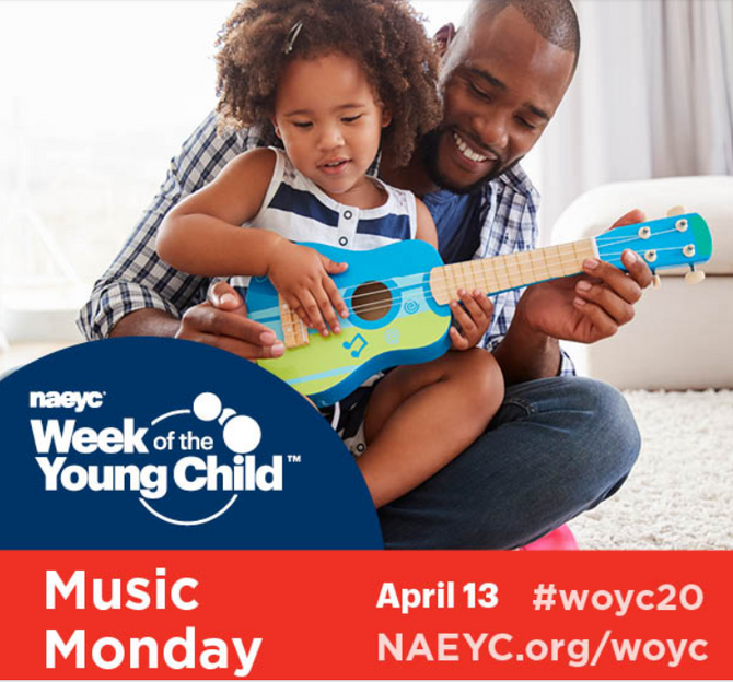 🍎 5 Music Monday Posts for NAEYC's Week of the Young Child