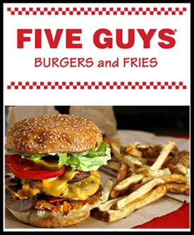 """""""Let's Eat Out"""" at Five Guys Burgers and Fries on Thursday, October 25, 2018"""