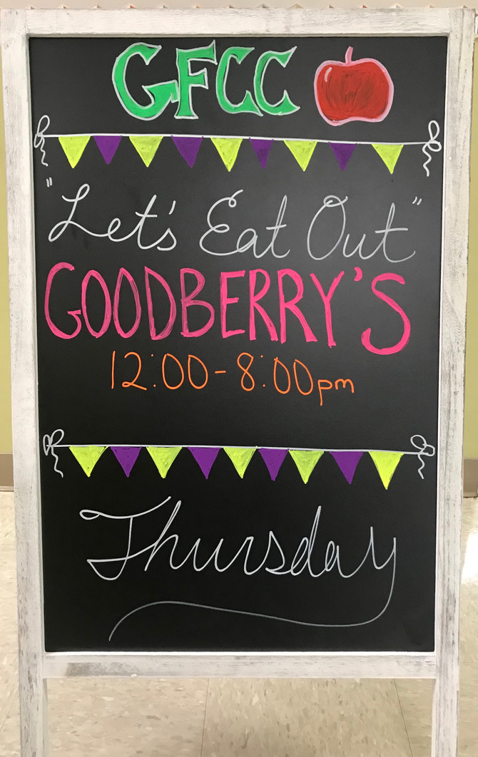 """""""Let's Eat Out"""" at Goodberry's on Thursday, September 26, 2019"""