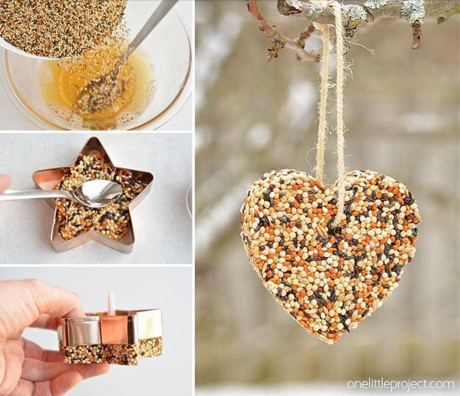 🍎 Birdseed Ornaments