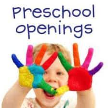 🍎 Preschool Openings at GFCC