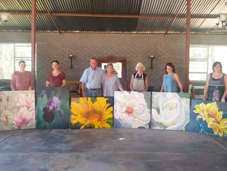 The Flower Encounter Painting Workshop at the Fat Mulberry Guest House