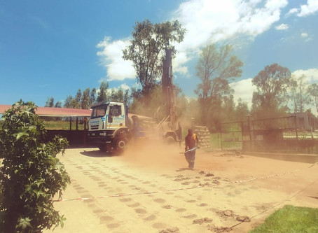 Drilling for Borehole Water at The Fat Mulberry Guest House
