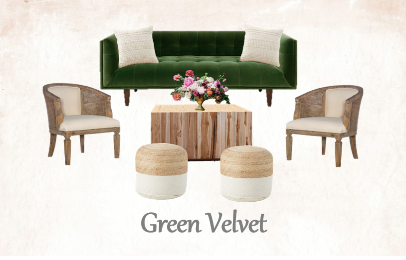 Green Velvet Lounge Set