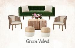 Green Velvet Lounge Set