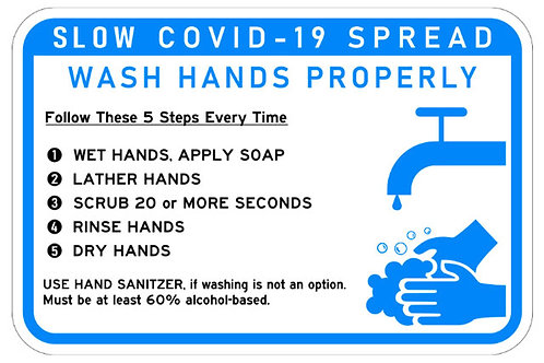 COVID-19 Hand Washing Sign