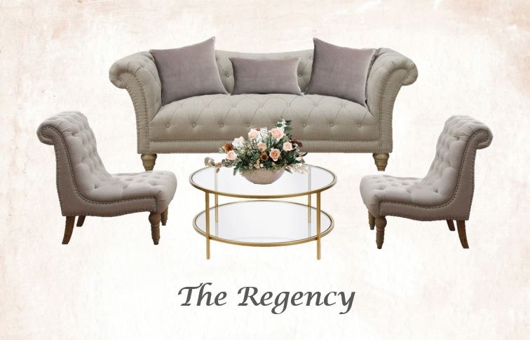 Beige Tufted Lounge Set