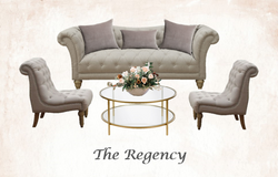 Beige Tufted Lounge Set