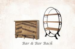 5' Wide Rustic Bar & Bar Back