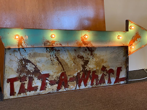 Tilt-a-whirl vintage inspired marquee sign