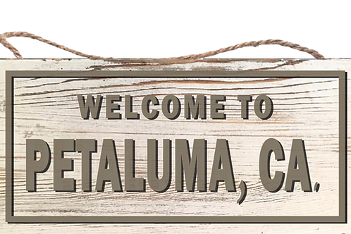 """Rustic """"Welcome To"""" Wood Sign 12"""" x 5 1/2"""" x 1/4"""""""
