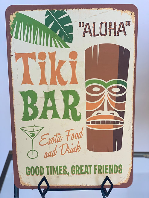 Tiki Bar Sign on metal
